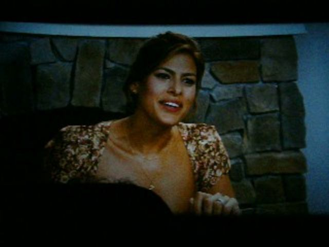 Our Fireplace looks good on Eva Mendes